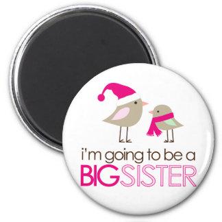 big sister birdies to be 6 cm round magnet