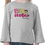Big Sister Brunette Personalised T-Shirt