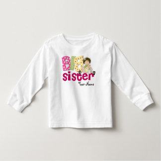 Big Sister Brunette Personalized T-Shirt
