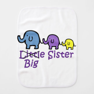 Big Sister Burp Cloths