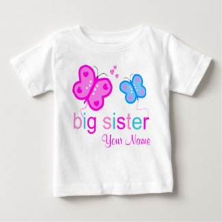 Big Sister Butterfly Personalised T-shirt