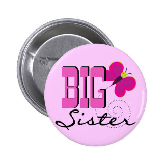 Big Sister Butterfly Tshirts and Gifts 6 Cm Round Badge