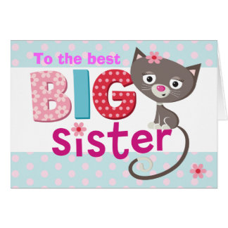 BIG Sister cat Greeting Card