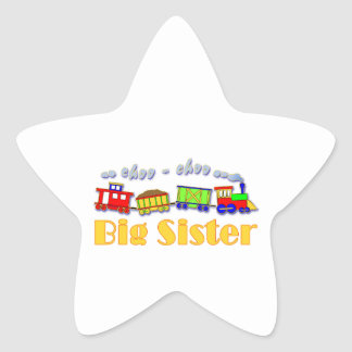 Big Sister Choo Choo Train Star Sticker
