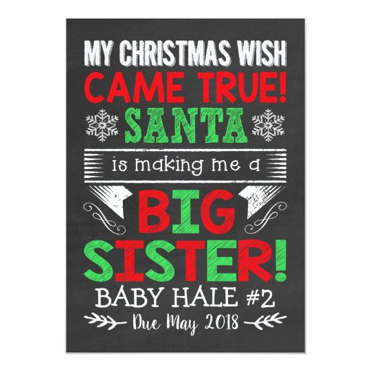 Big Sister Christmas Pregnancy Announcement