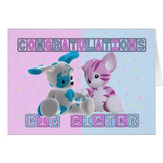 Big Sister Congratulations Greeting Card