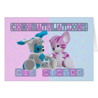Big Sister Congratulations Greeting Cards