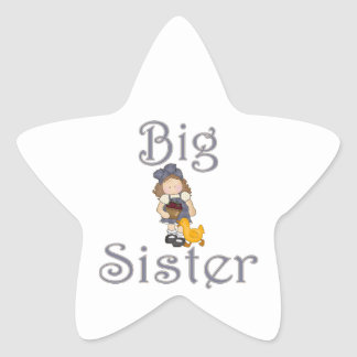 Big Sister Country Girl Duck Star Sticker