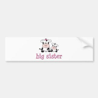 Big Sister Cow T-shirt Bumper Sticker