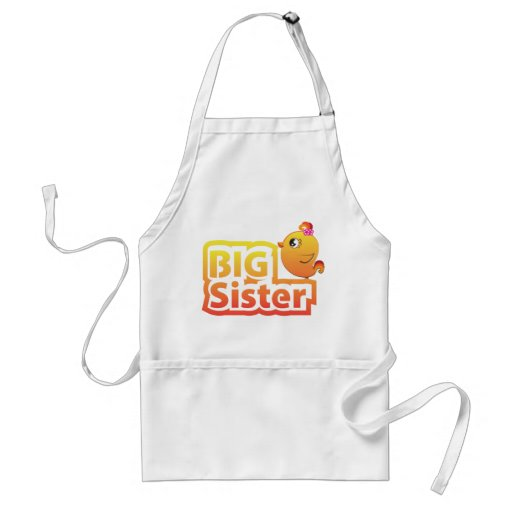 Big sister cute baby chicken bird apron
