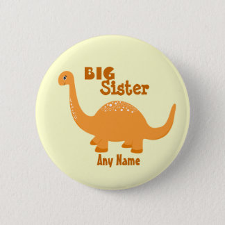 Big Sister Dinosaur Print Button