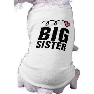 Big Sister Dog Shirt   Cute pet clothing