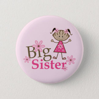 Big Sister Ethnic Stick Figure Girl 6 Cm Round Badge