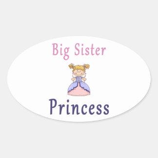 Big Sister Fairy Princess Oval Stickers