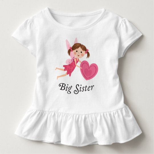 Big sister fairy with love heart t-shirt
