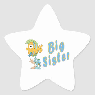 Big Sister Fish Star Sticker