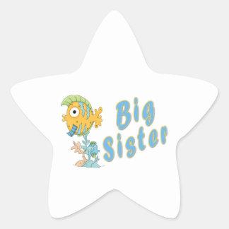 Big Sister Fish Star Sticker