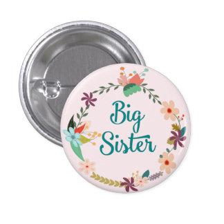 Big Sister Floral Wreath Pin