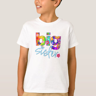 big sister flower back T-Shirt