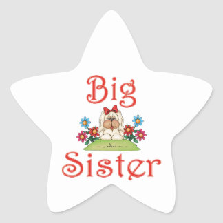 Big Sister Fluffy Pup 7 Star Stickers