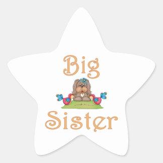 Big Sister Fluffy Pup 8 Star Sticker