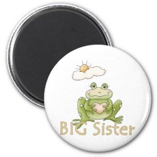 Big Sister Frog 6 Cm Round Magnet