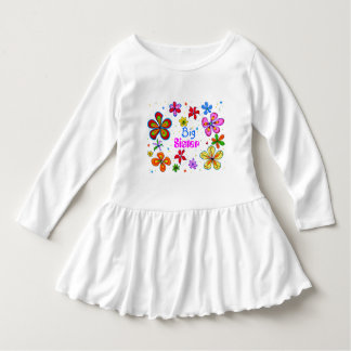 Big Sister Funky Retro Floral Art Dress
