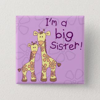 Big Sister Giraffe 15 Cm Square Badge