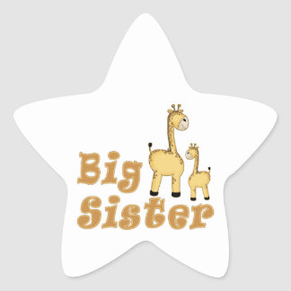 Big Sister Giraffe Stickers