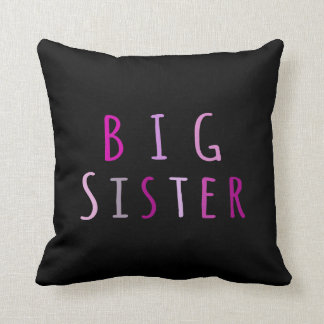 Big Sister in Pink Throw Pillows