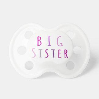 Big Sister in Pink Pacifiers