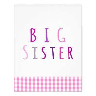 Big Sister in Pink Personalized Invitations