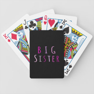Big Sister in Pink Bicycle Poker Cards