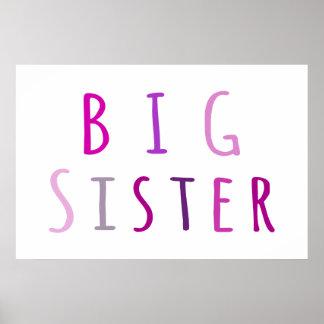 Big Sister in Pink Print