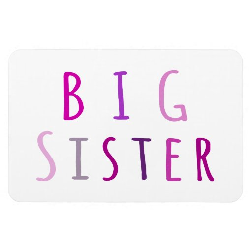 Big Sister in Pink Magnets