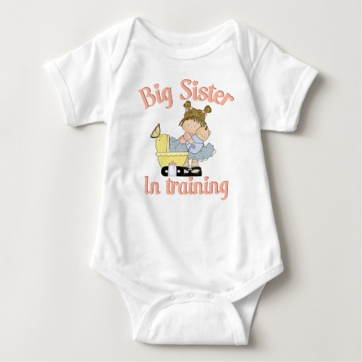 Big sister in training baby bodysuit