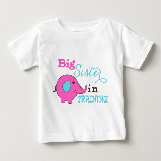 Big Sister in Training Elephant Baby T-Shirt