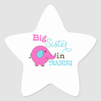 Big Sister in Training Elephant Stickers