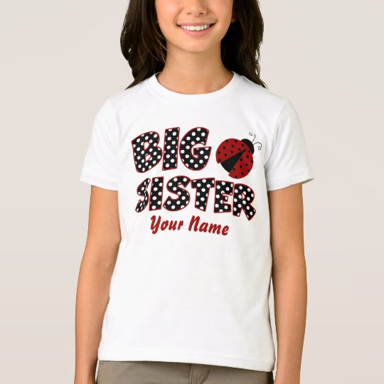 Big Sister Ladybug Personalised T-Shirt