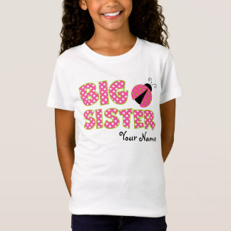 Big Sister Ladybug Pink Personalized T-Shirt