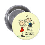 Big Sister Little Brother T-shirts and Gifts 6 Cm Round Badge