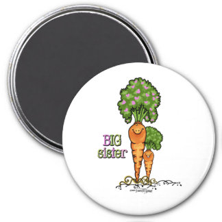 Big Sister - little sibling 7.5 Cm Round Magnet