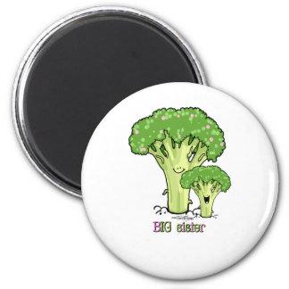 Big Sister - little sibling broccoli 6 Cm Round Magnet
