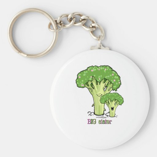 Big Sister - little sibling broccoli Key Chains
