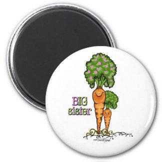 Big Sister - little sibling 6 Cm Round Magnet