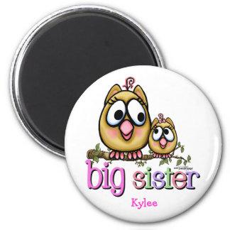 Big Sister little Sis Fridge Magnet