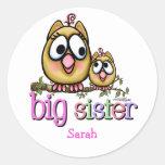 Big Sister little Sis Round Sticker