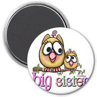 Big Sister Little Sister Owls Refrigerator Magnet