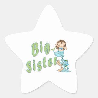 Big Sister Mermaid 4 Star Sticker