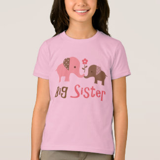 Big Sister - Mod Elephant t-shirts for girls